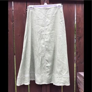 Wrap, Celery Green, A-Line Skirt. EUC Size 6